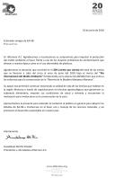Carta de agradecimiento KAAB FIN